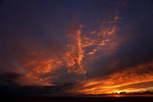 Sunset over the South Dorset Jurassic Coast - photo