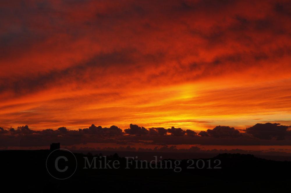 Sunset over Abbotsbury, Dorset - photo