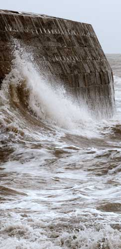 Lyme Regis Cobb - Sea Crashing - photo